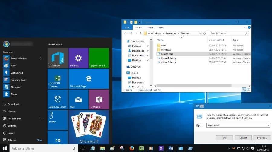 change title bar color Windows 10