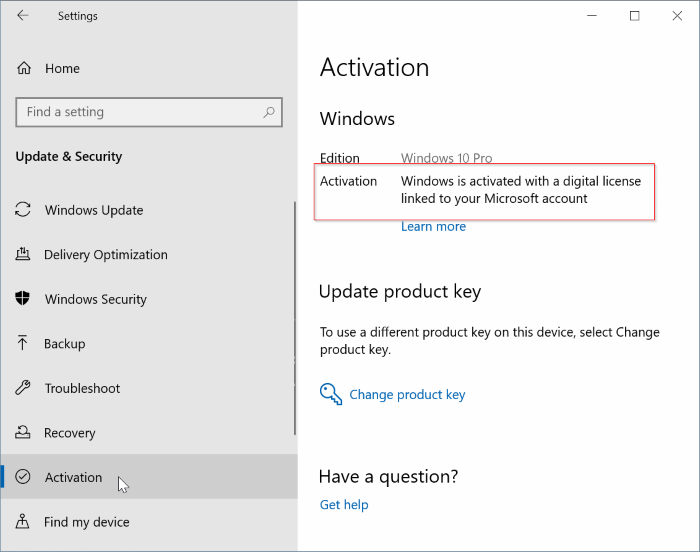 check Windows 10 activation status pic3
