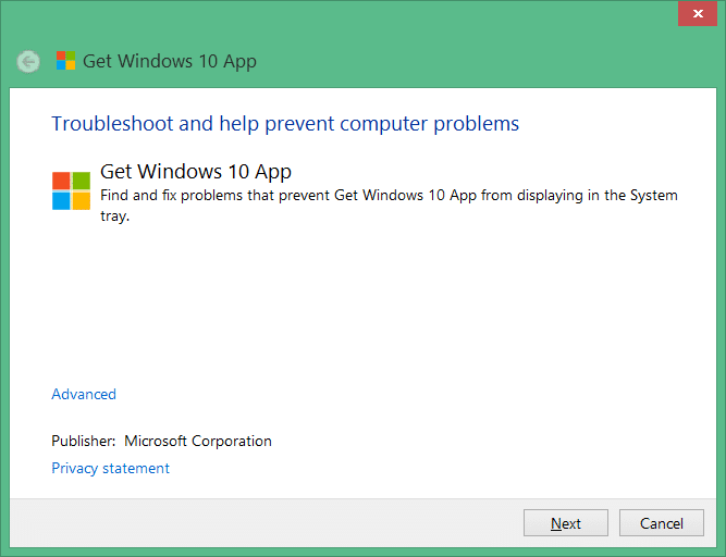 get windows 10 app troubleshooter pic1