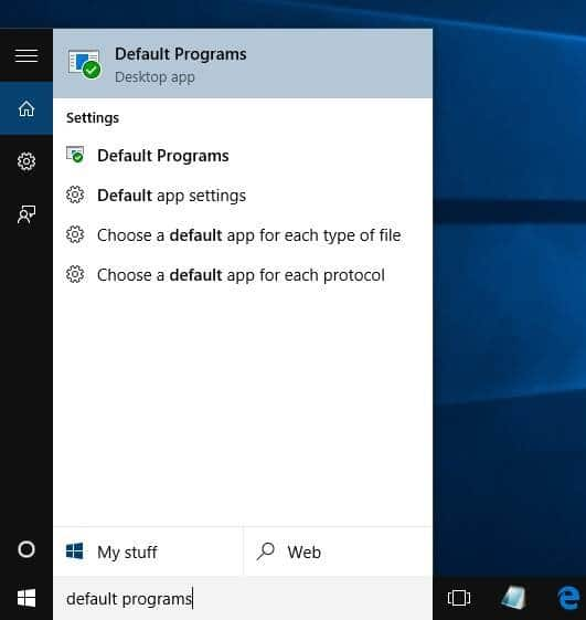 make Windows Photo Viewer default in Windows 10 step5