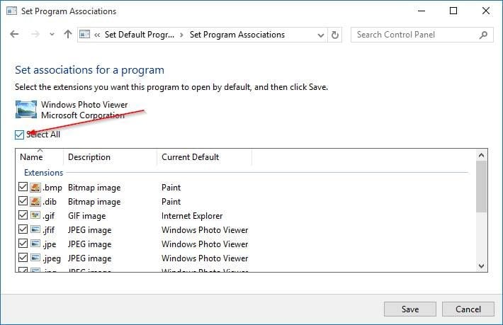 make Windows Photo Viewer default in Windows 10 step9