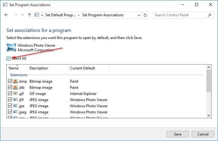 make Windows Photo Viewer default in Windows 10 step9