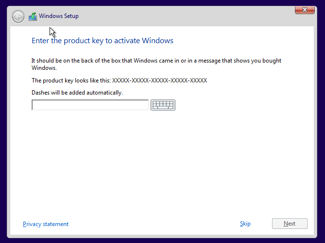 Activate Windows 10 after clean install