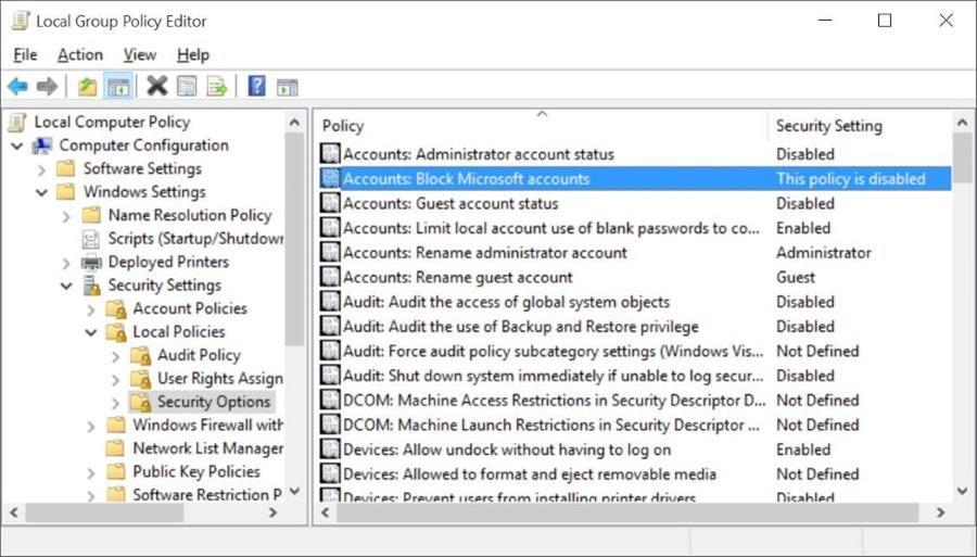 how to close microsoft account windows 10
