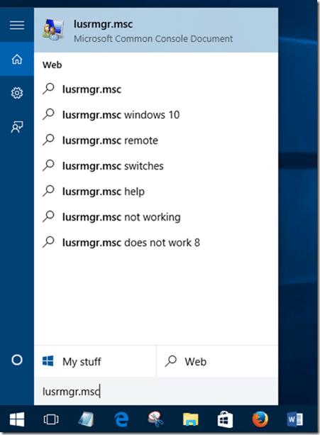 Create Guest user account in Windows 10 step1