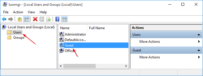 Create Guest user account in Windows 10 step3