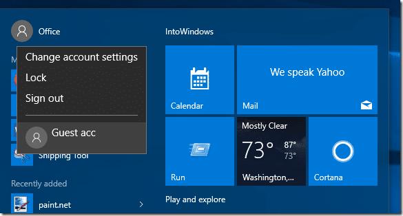 Create Guest user account in Windows 10 step6