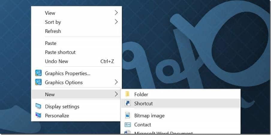 Create desktop shortcut for Settings app in Windows 10 pic1