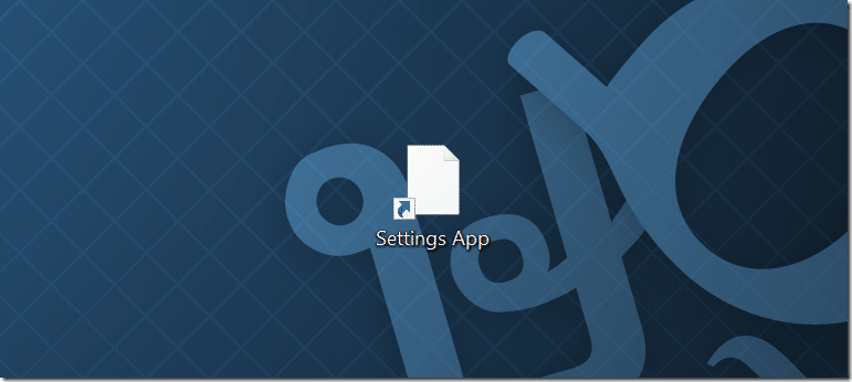 Create desktop shortcut for Settings app in Windows 10 pic4