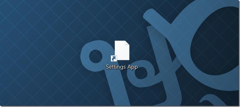 Create desktop shortcut for Settings app in Windows 10 pic4