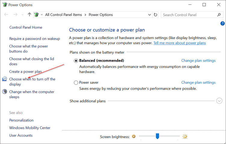 Disable Auto Screen Brightness in Windows 10 pic2