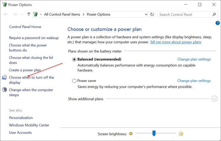 Disable Auto Screen Brightness in Windows 10 pic2