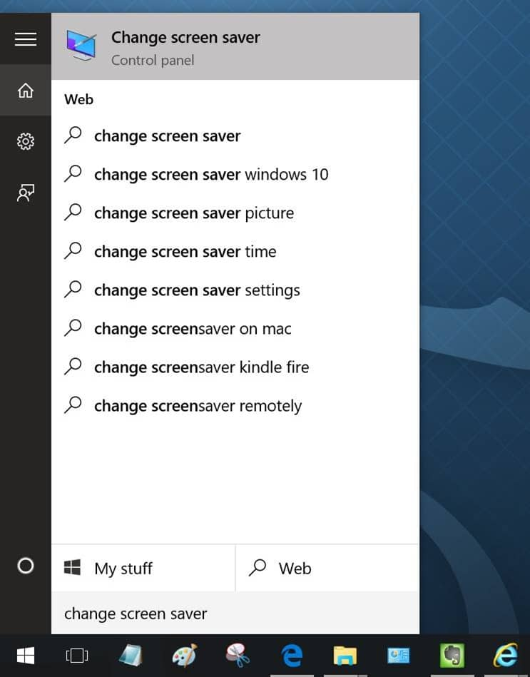 Enable Screen saver in Windows 10 pic1