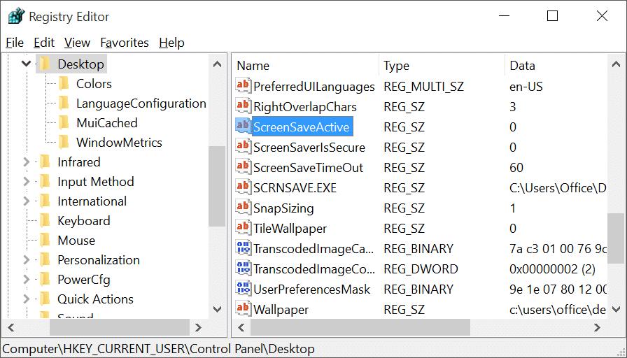 how to set a screensaver windows 10