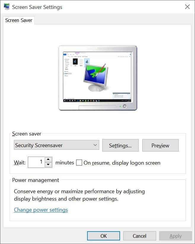 Enable Screen saver in Windows 10 pic6