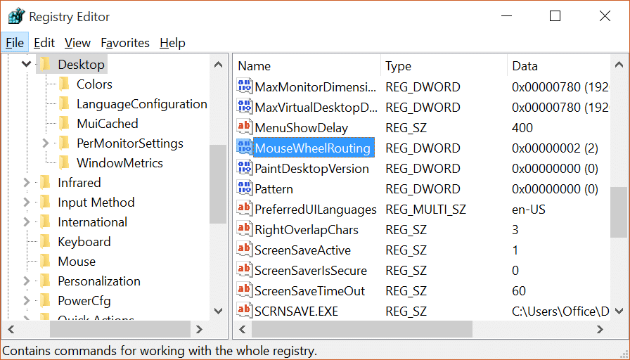 Enable or Disable Windows 10 inactive window scrolling pic3