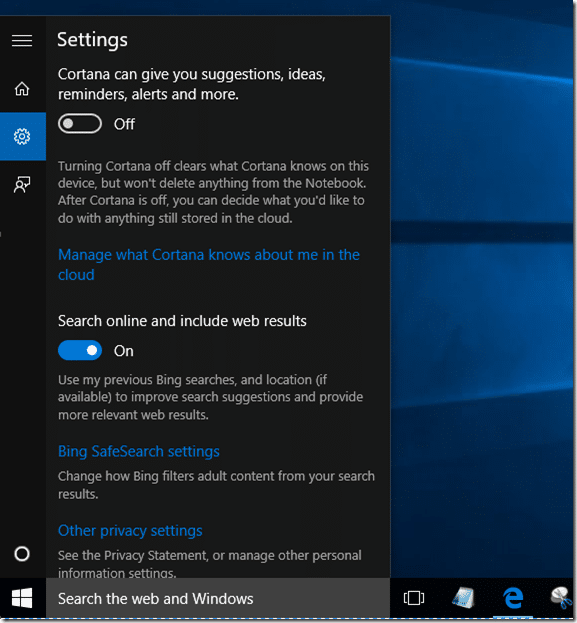Fix to Cortana not working in Windows 10 pic1