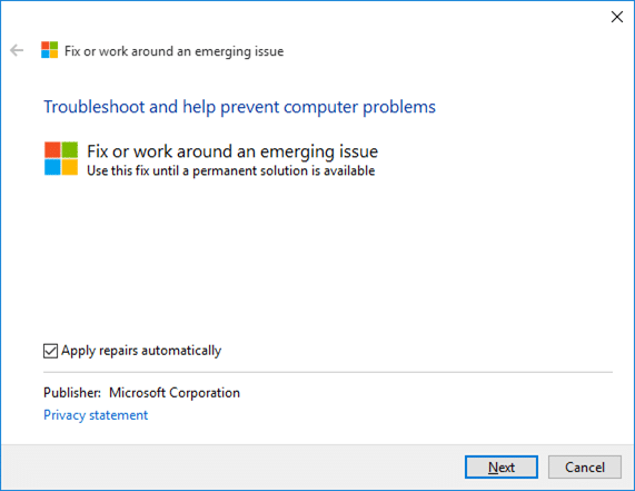 Fix to Settings app not opening in Windows 10