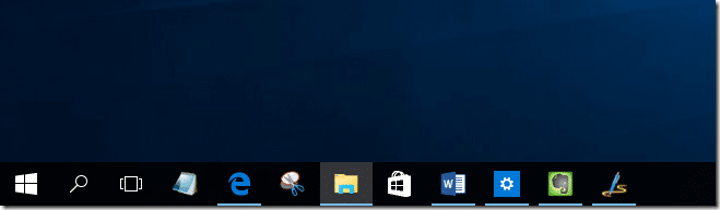 Microsoft has made subtle changes to the taskbar in windows 10 the