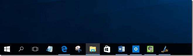 Make taskbar icons size bigger in Windows 10
