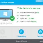Download McAfee Antivirus Free For Windows 10
