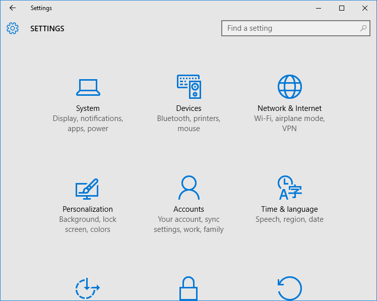 Settings app not opening in Windows 10