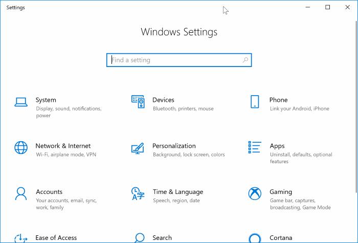 Settings app not working in Windows 10 (2)