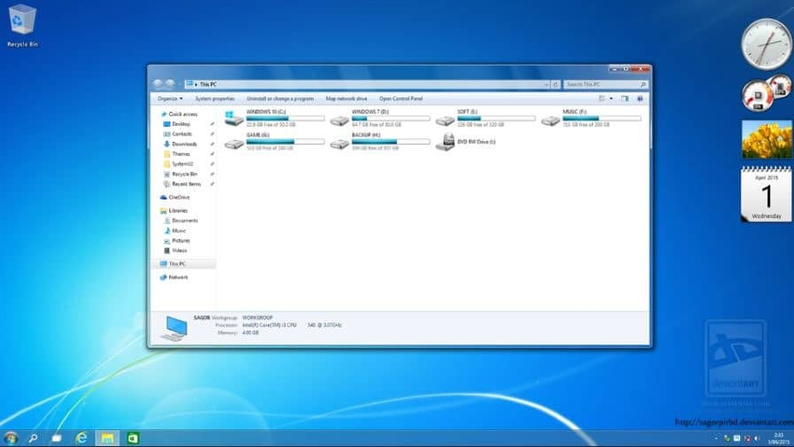 тема Aero для Windows 7 - фото 7