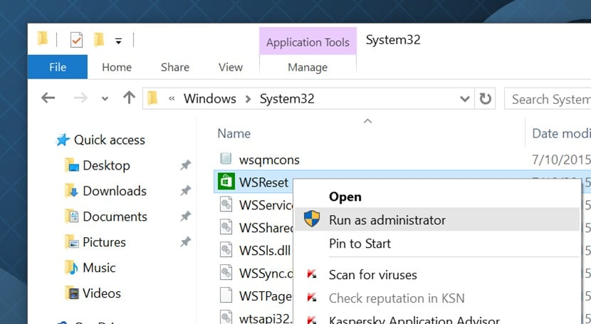 clear and reset Windows Store Cache in Windows 10 pic2