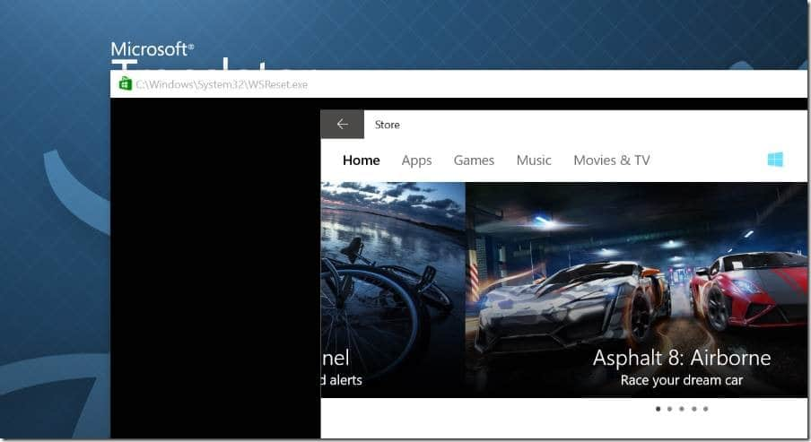 clear and reset Windows Store Cache in Windows 10 pic3