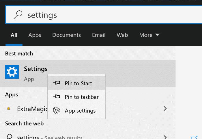 create settings app shortcut on desktop in Windows 10 pic1