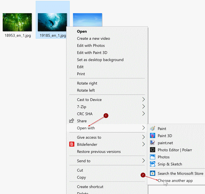 enable Windows Photo Viewer in Windows 10 pic2