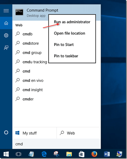 enable guest account in Windows 10 step2