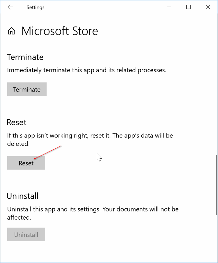 fix to store app not working in Windows 10 pic2