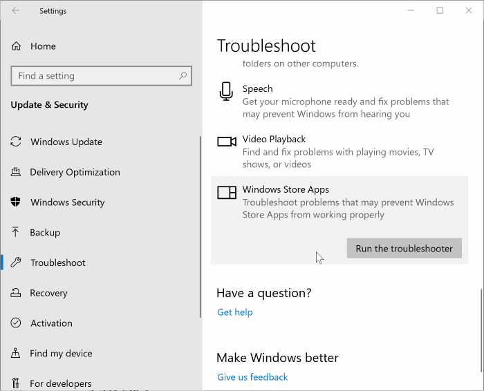 fix to store app not working in Windows 10 pic3