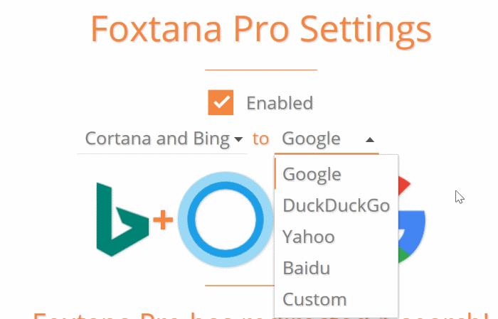 make Cortana use Google instead of Bing in Windows 10