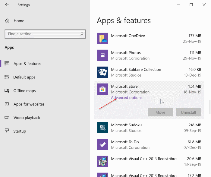 reset and clear store cache in Windows 10 pic5