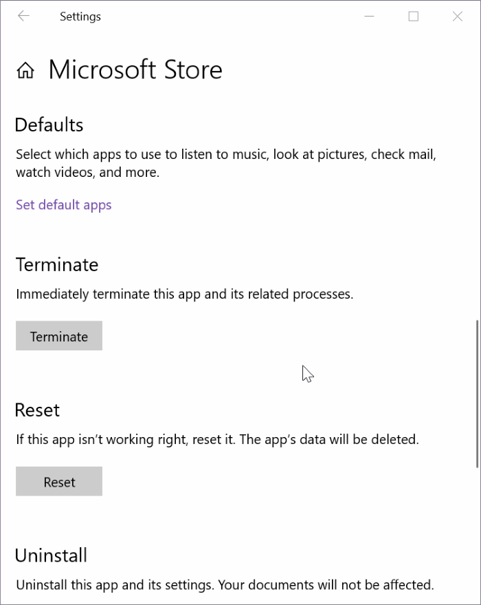 reset and clear store cache in Windows 10 pic6