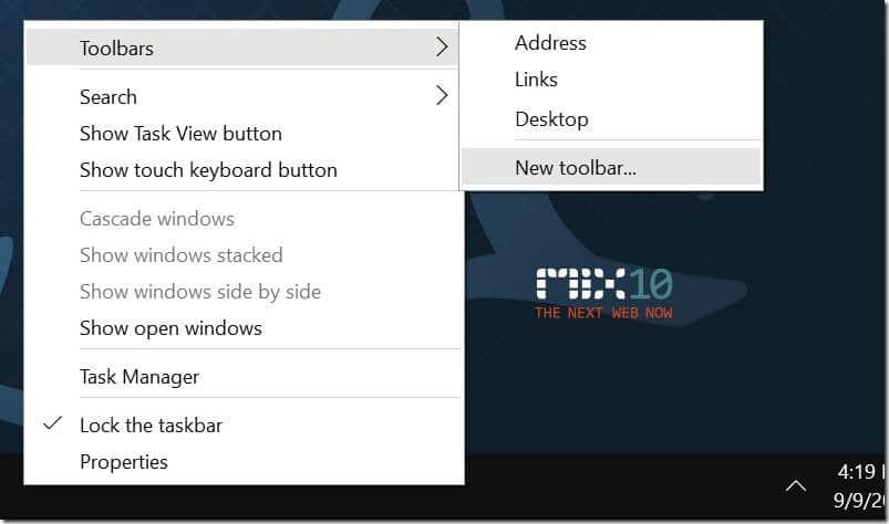 Customize Windows 10 taskbar pic5.1