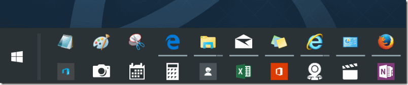 windows 10 toolbar size - Siteze