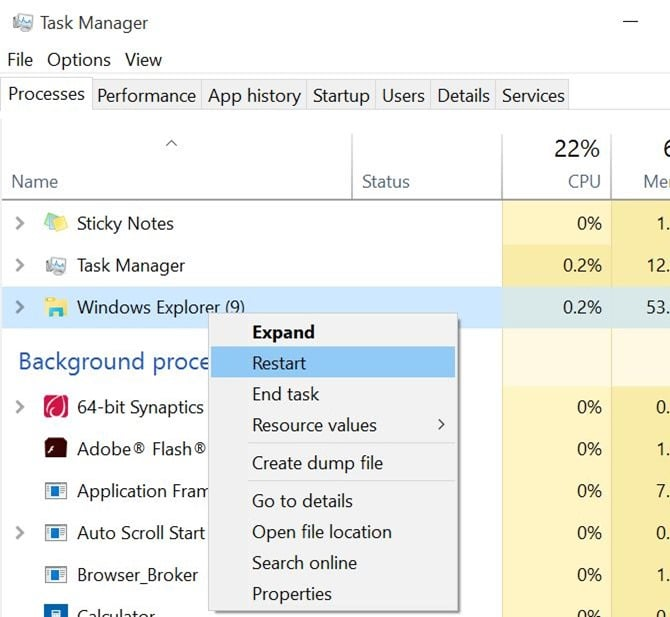Fix to Windows 10 taskbar auto hide not working pic3