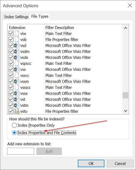 Make Windows 10 search through file contents pic4