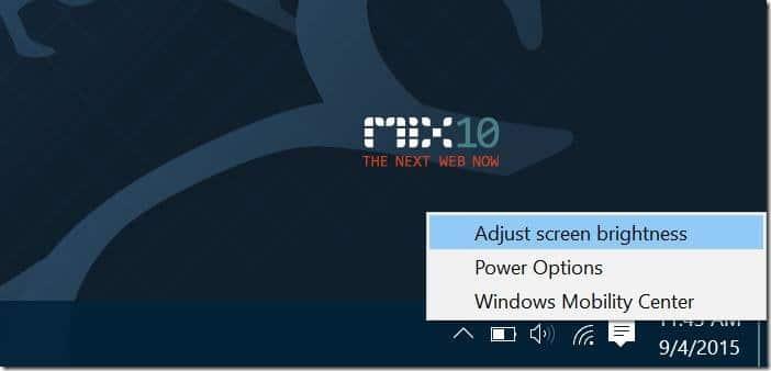 Manually adjust screen brightness in Windows 10 pic1