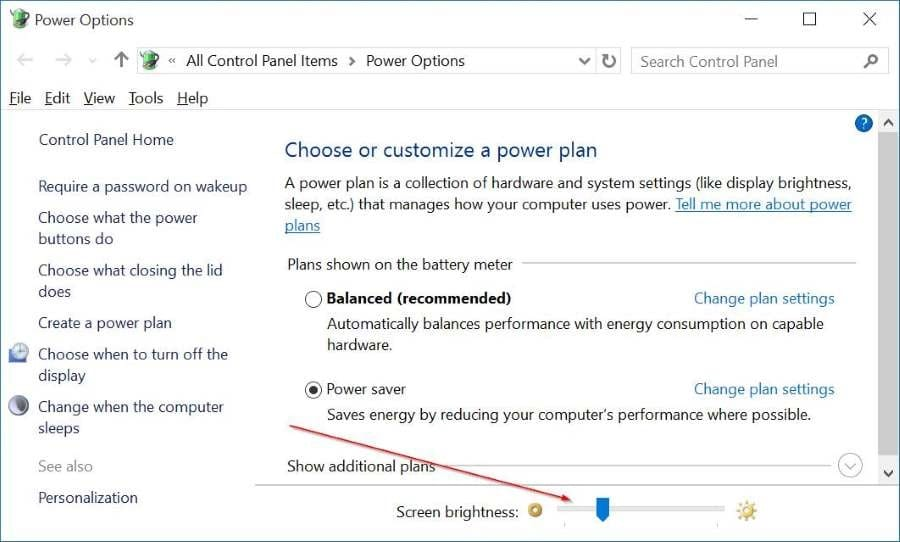 Manually adjust screen brightness in Windows 10 pic2