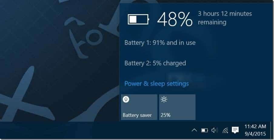 Manually adjust screen brightness in Windows 10