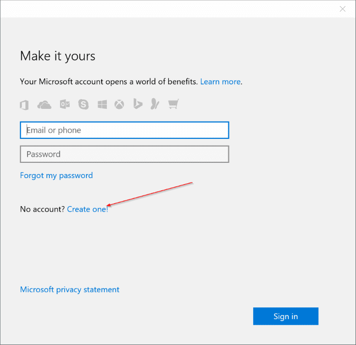 How To Use Gmail Or Yahoo! Mail To Create Microsoft Account On ...
