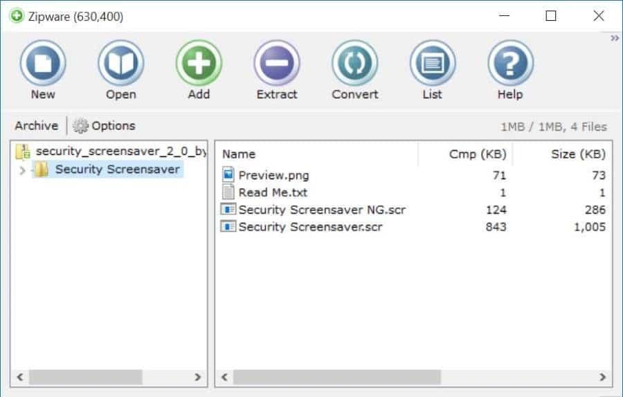 Zipware: An Excellent Free Zip Software For Windows 10