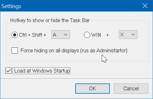 automatically hide the Windows 10 taskbar pic2