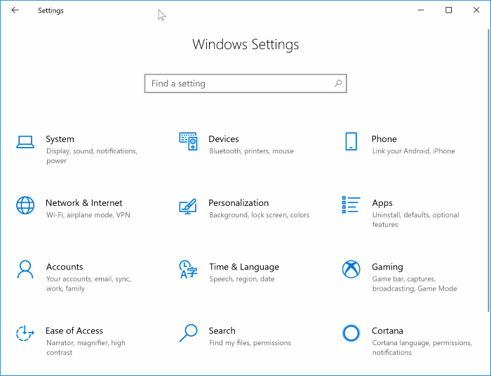 enable or disable sleep mode in Windows 10 pic1