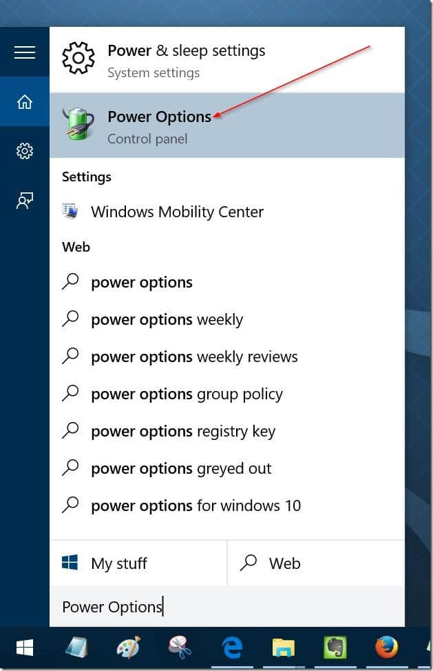 enable or disable sleep mode in Windows 10 pic6